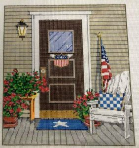 Sandra Gilmore – door with flag