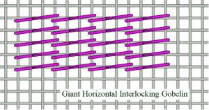 Giant Horizontal Interlocking Gobelin