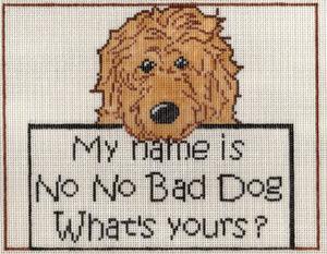 S20 No No Bad Dog Needlepoint