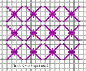 Trellis Cross Steps 1 and 2