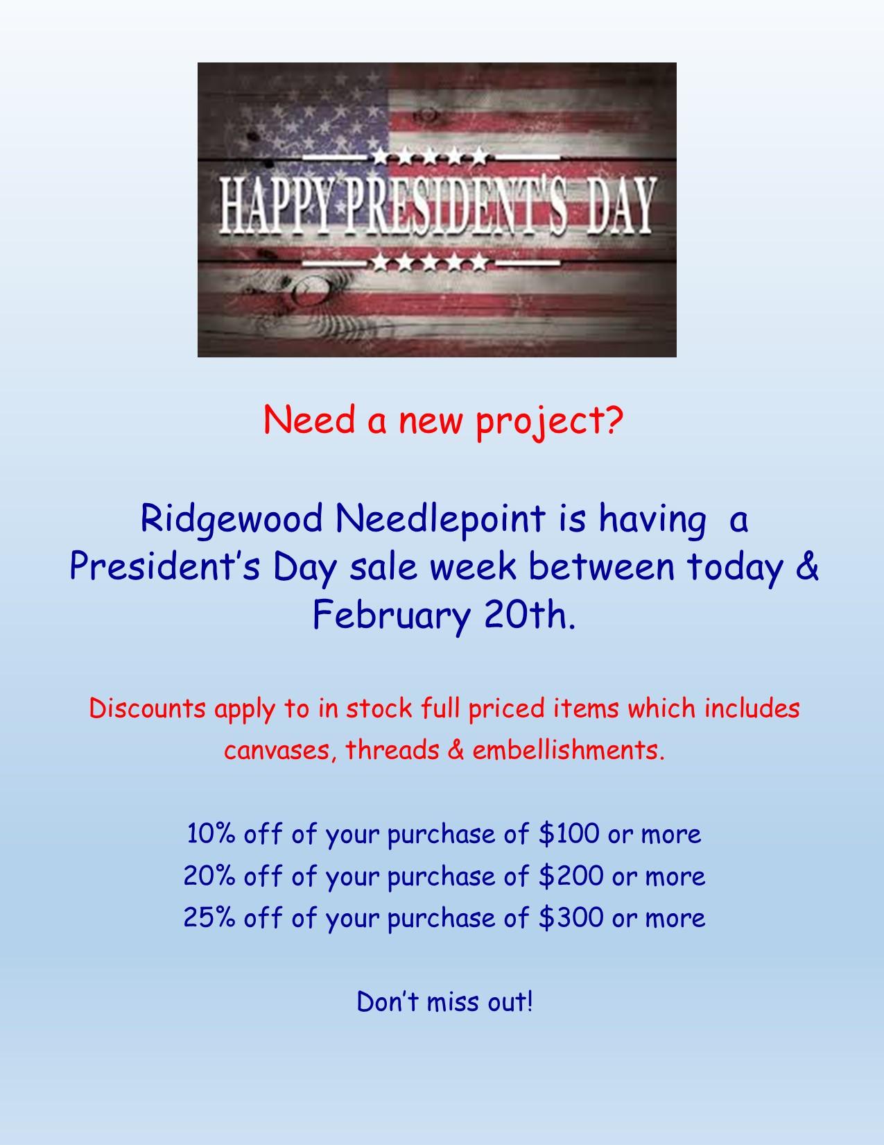 Pres Sale Week