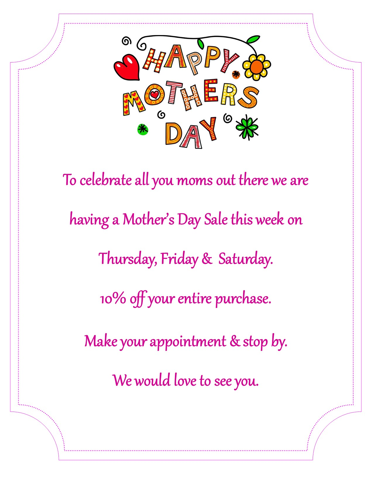 Mother's Day – 5-4 AM Post