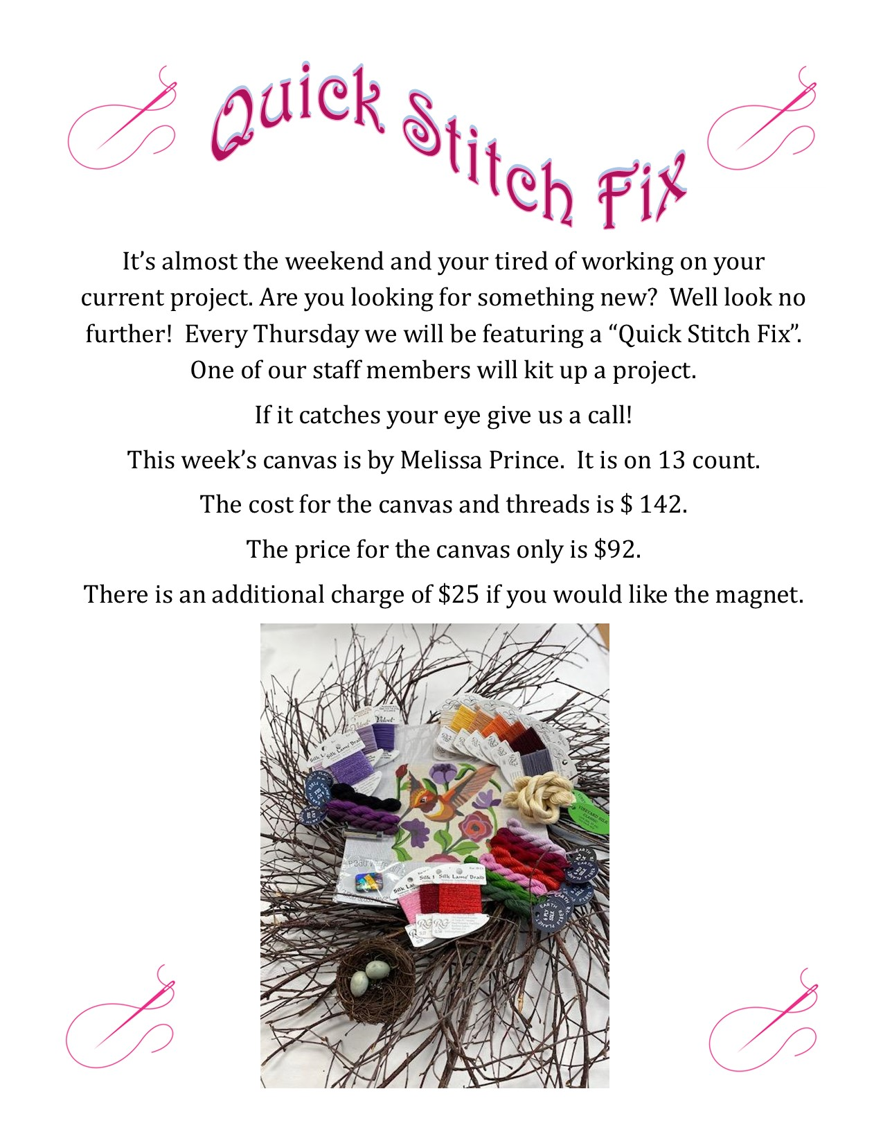 Quick Stitch Fix – 5-6-21