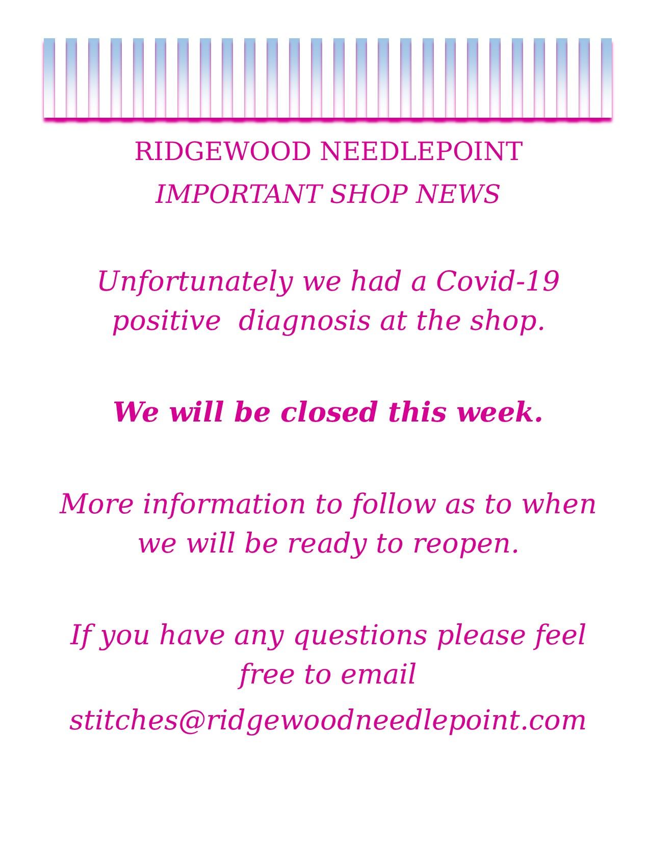 Important Shop News 8-31-21