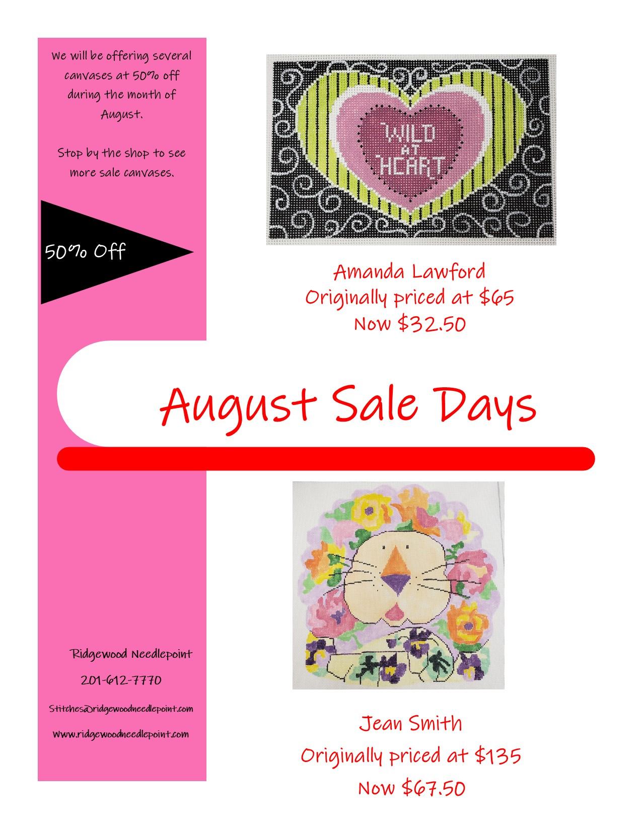 Sale Days 8-12-21