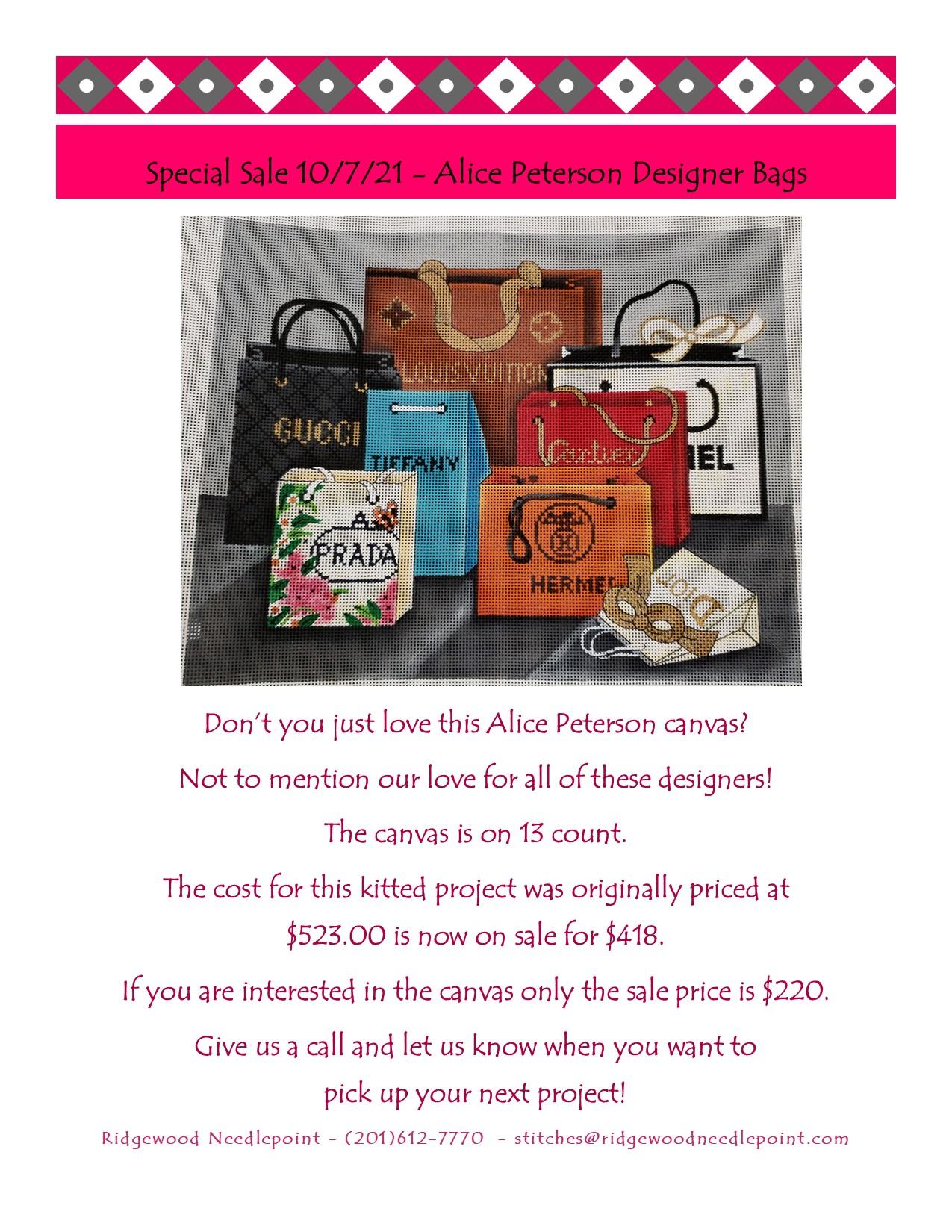 Alice Peterson Designer Bags 10-7-21